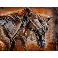 Kovový obraz 80x60 Kone
