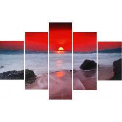 Obraz 5x   60x90cm Po Západe Slnka