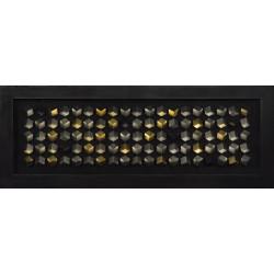 Rámované DEKO obrazy 160x60 Zlato-strieborné kocky